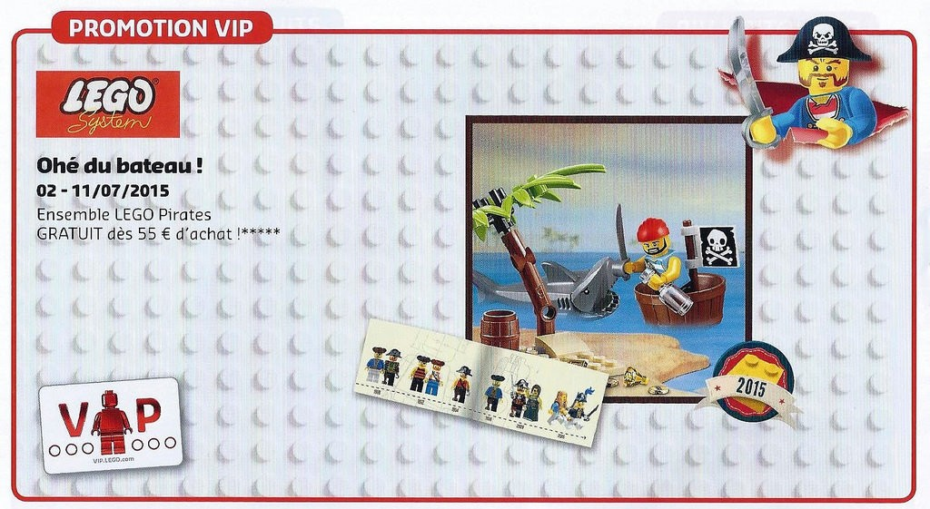 Classic LEGO Pirates VIP Retro Minifigure Set August 2015