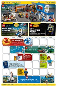 July 2015 LEGO Retail Brand Store Calendar
