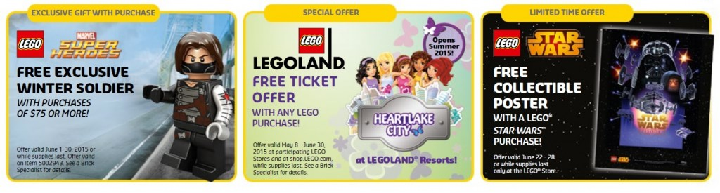 June 2015 LEGO Shop Sales, Promotions & Offers - Toysnbricks