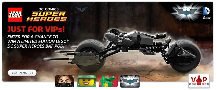 LEGO DC Super Heroes Bat-Pod Limited Edition Set Promotion VIPs June 2015 - Toysnbricks