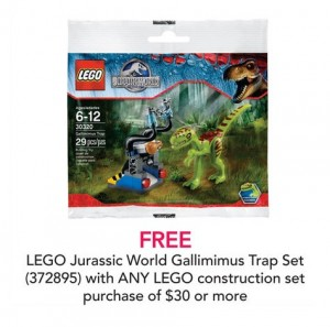 LEGO Jurassic World Gallimimus Trap Polybag June 2015 ToysRUs Promotion
