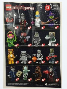 LEGO 71010 Series 14 Collectable Minifigures Leaflet Poster