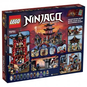 LEGO Ninjago 70751 Temple of Airjitzu Back Box Image (High Resolution)
