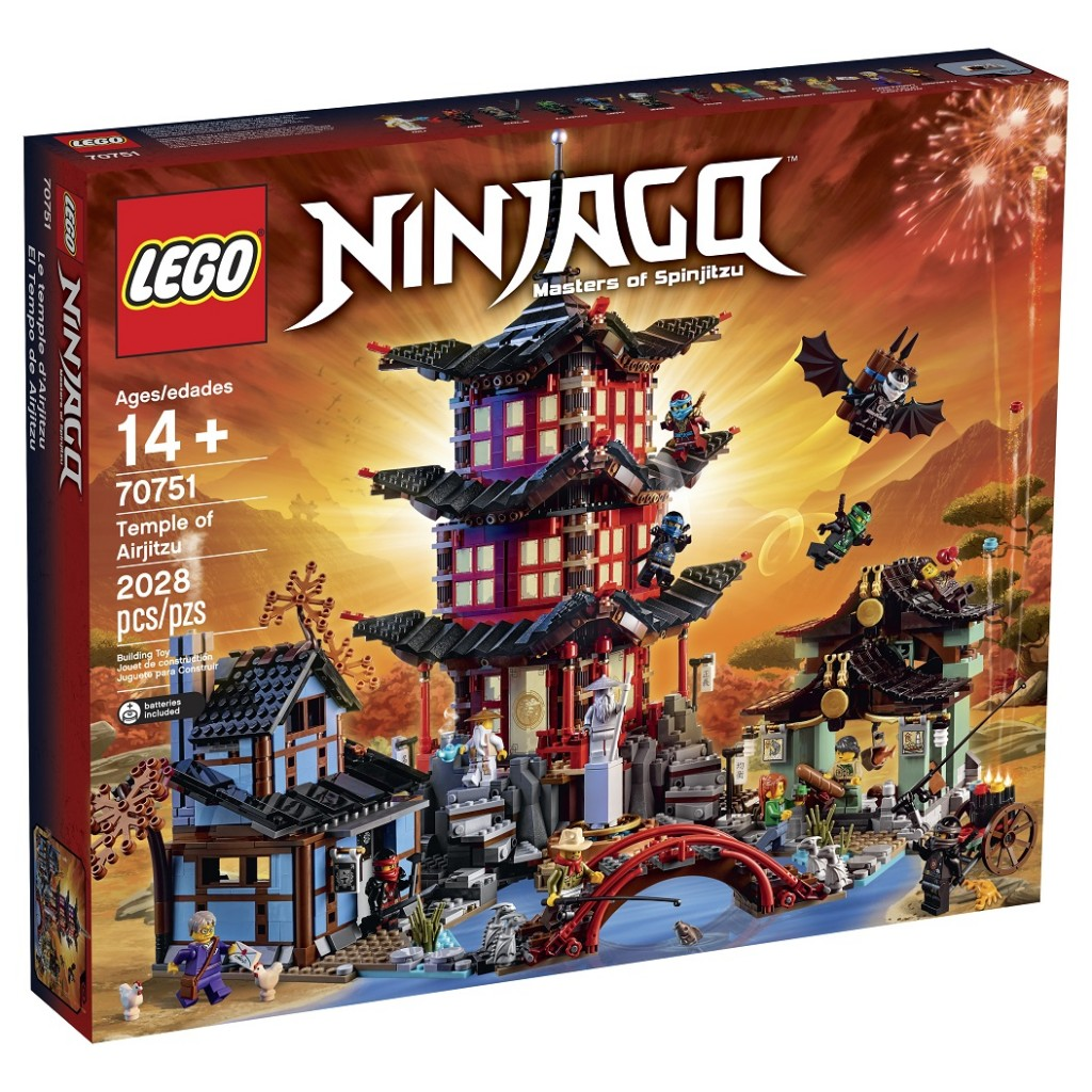 LEGO Ninjago 70751 Temple of Airjitzu Box Image (High Resolution)