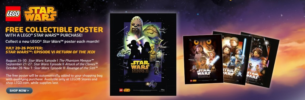 LEGO Star Wars Collectible Poster Episode VI Return of the Jedi July 2015