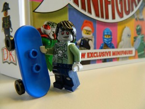 Zombie Skateboarder Minifigure Exclusive DK LEGO I Love that Minifigure Book - October 2015