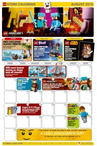 August 2015 LEGO Brand Store Calendar - Toysnbricks