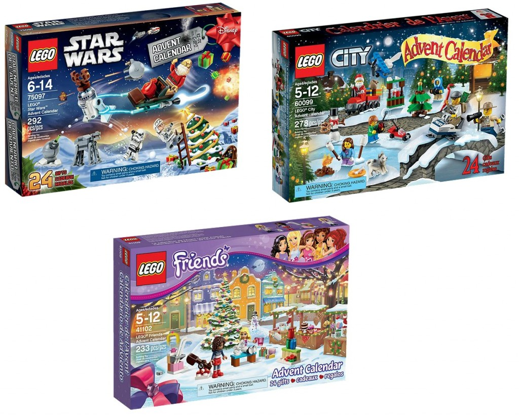 LEGO 2015 Advent Calendars 75097 Star Wars 60099 City 41102 Friends - Toysnbricks
