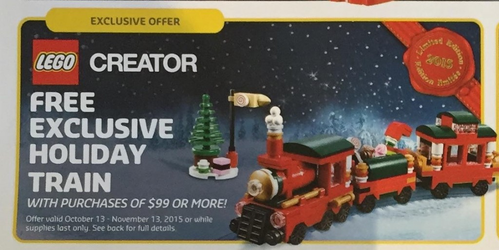 LEGO Creator Exclusive Holiday Train 2015 Christmas Holiday Limited Edition Set