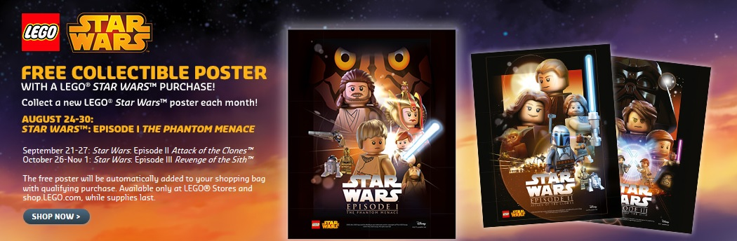 LEGO Star Wars Episode I The Phantom Menace Poster 2015 August - Toysnbricks
