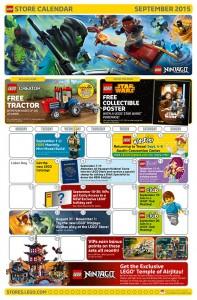 September 2015 LEGO Brand Store Calendar - Toysnbricks