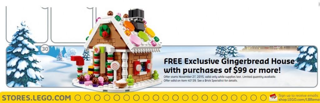 40139 LEGO Gingerbread House Set Winter 2015 November Promotion