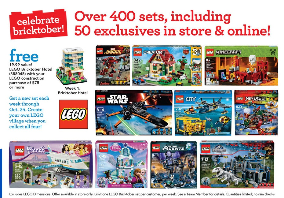 LEGO Bricktober 2015 Sale ToysRUs
