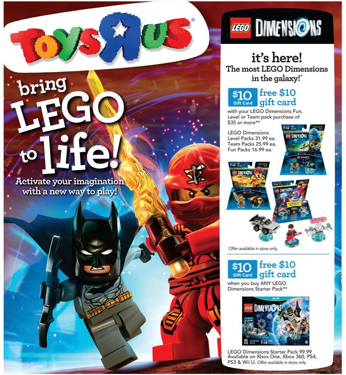 ToysRUs LEGO Dimensions September Release 2015 Promotional Sale