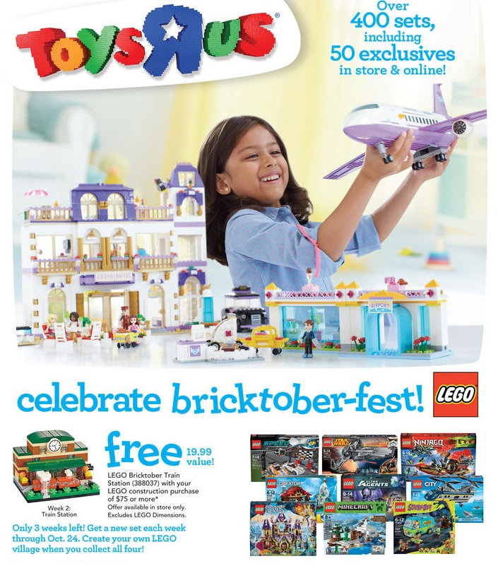 2015 ToysRUs America LEGO Bricktober Train Set 388037 Week 2 Sale