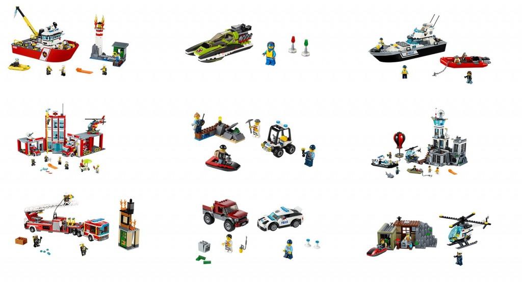 2016 LEGO City Sets Pictures 60109 60110 60111 60112 60114 60127 60128 60129 60130 60131