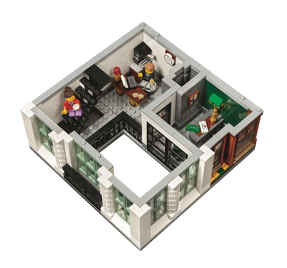 Lego Expert Creator 10251 Brick Bank Modular Building 2016 Upper Level High Resolution