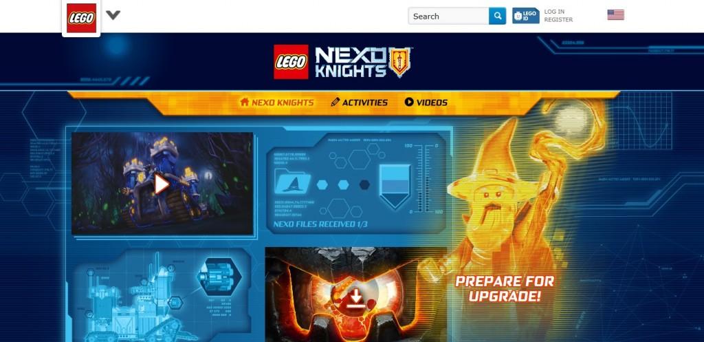 LEGO Nexo Knights Microsite - Toysnbricks