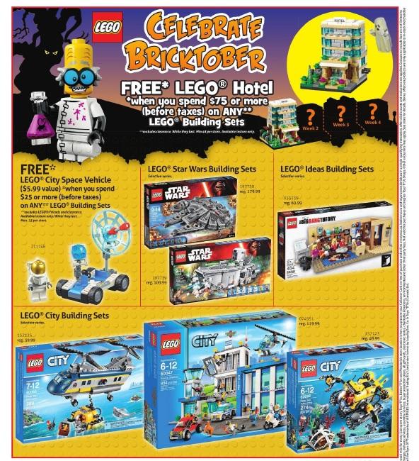 ToysRUs Canada LEGO Bricktober 2015 Week 1 Sale