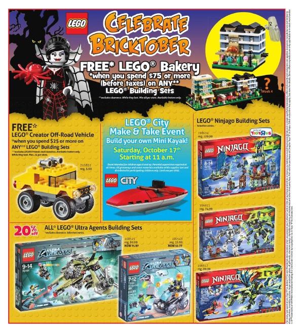 ToysRUs Canada LEGO Bricktober Week 3 Sale 2015
