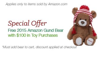 2015 Amazon Gund Bear Promotion