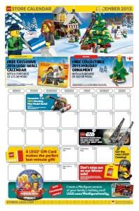 December 2015 LEGO Brand Retail Store Calendar