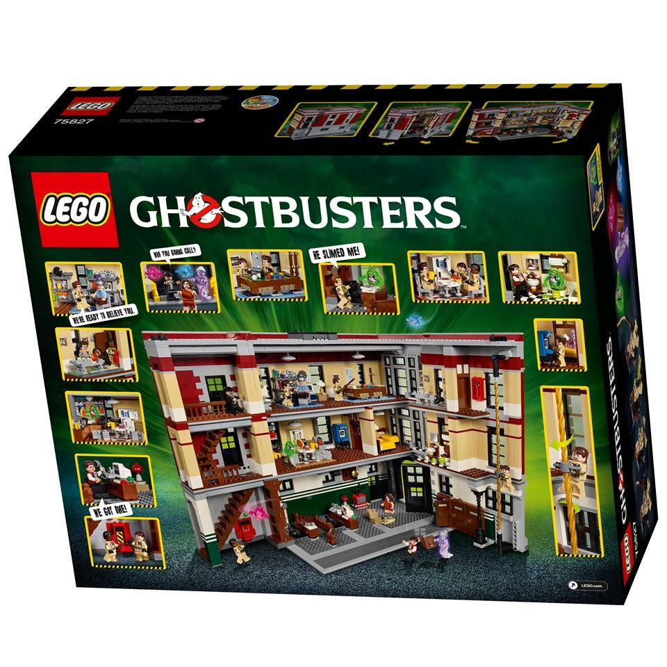 LEGO Ghostbusters Firehouse Headquarters 75827 Ideas Set Back Box