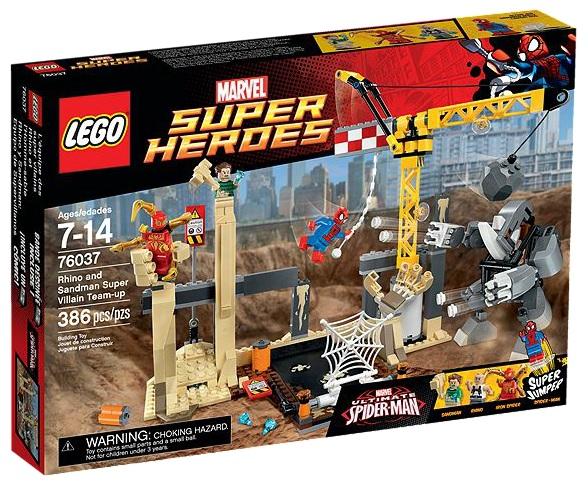 LEGO Marvel Super Heroes 76037 Rhino and Sandman Super Villain Team-up - Toysnbricks