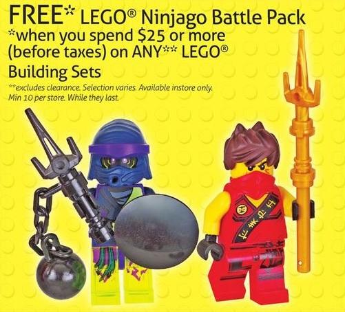 LEGO Ninjago Battle Pack Promotion ToysRUs Canada November 2015