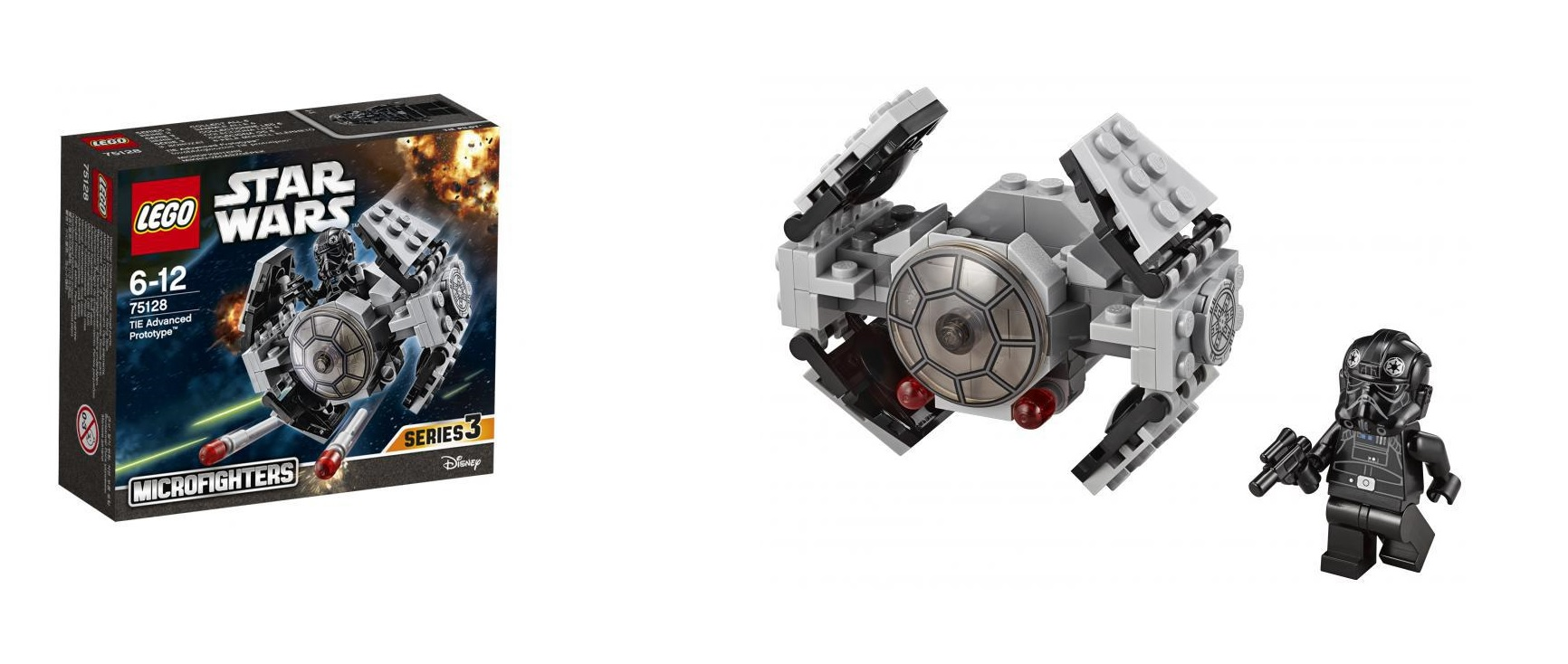 8 Lego Starwars 75128 1bc0c021 Lego Star Wars 75128  : LEGO Star Wars 75128 TIE Advanced Prototype Microfighters Series 3 Toysnbricks from hargapass.com size 1732 x 734 jpeg 216kB