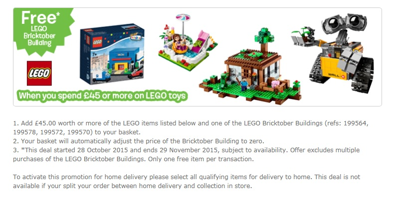 UK Bricktober LEGO 2015 Sale ToysRUs