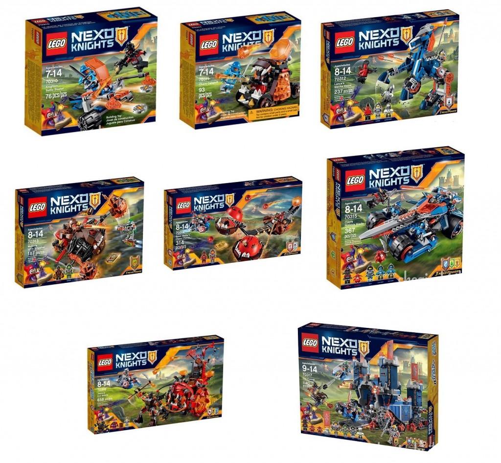 2016 January LEGO Nexo Knights Sets 70310 70311 70312 70313 70314 70315 70316 70317