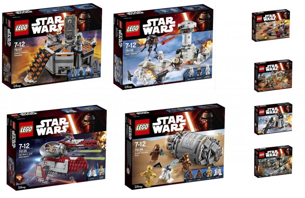 2016 LEGO Star Wars 75135 75136 75137 75138 75134 75133 75132 75131 Sets