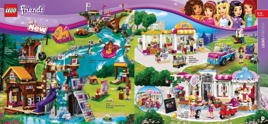 LEGO Friends 2016 Sets from Catalog 41122 41121 41120 41119 41118 41116