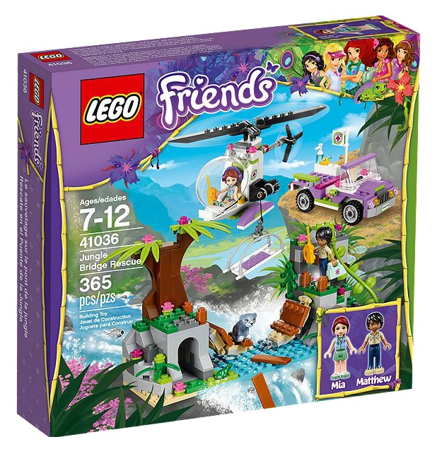 LEGO Friends 41036 Jungle Bridge Rescue - Toysnbricks