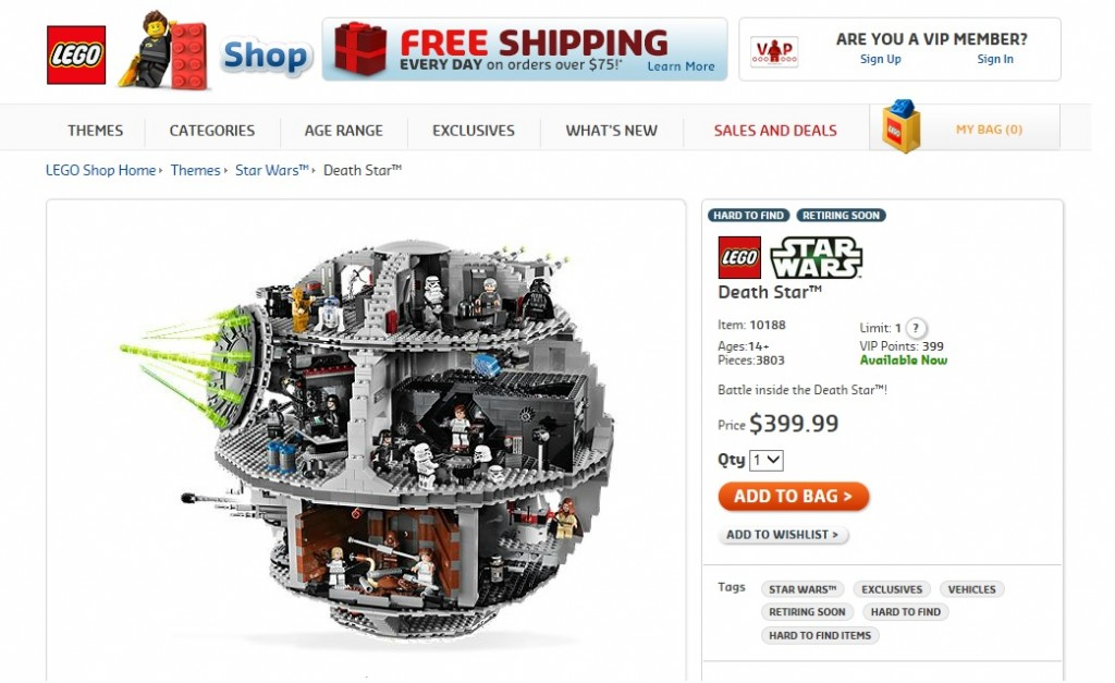 LEGO Star Wars 10188 Death Star Retiring Soon