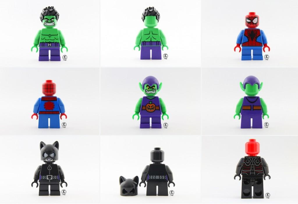 LEGO Super Heroes Microfigures Minifigures Green Goblin, Spider-Man, Hulk, Catwoman