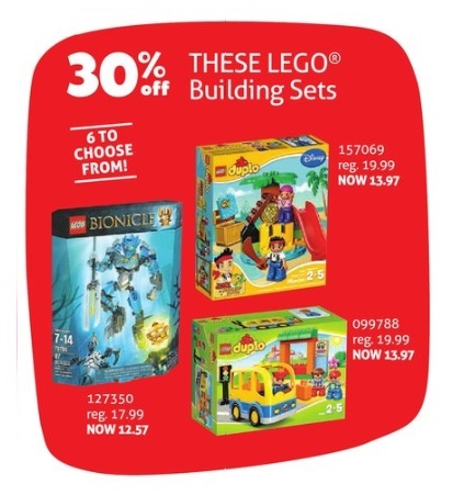 LEGO ToysRUs Canada 2015 Boxing Day Post Christmas Sale