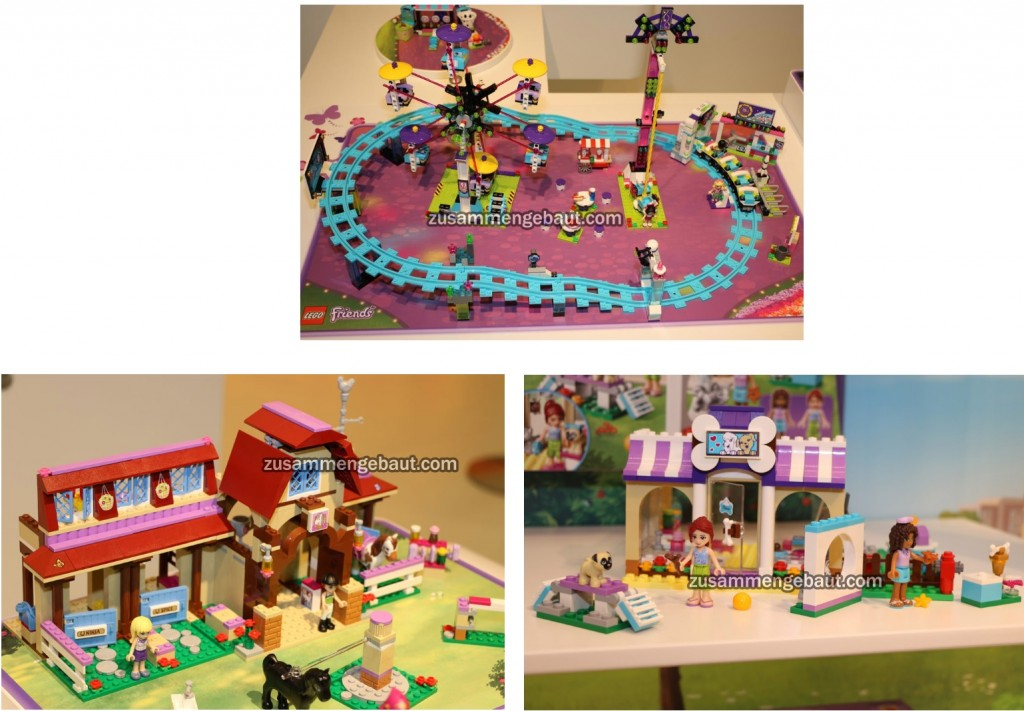 2016 LEGO Friends Ferris Wheel, Puppy Care and 41126 Horse Riding Club