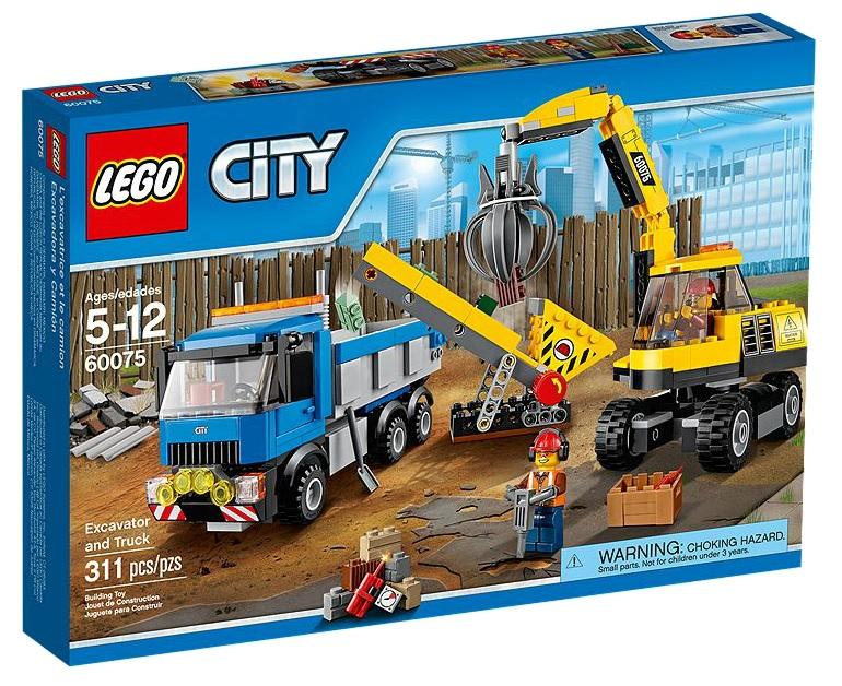 LEGO City 60075 Excavator and Truck - Toysnbricks