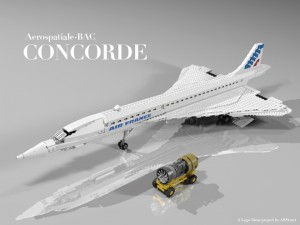 LEGO Creation Concorder Display Set by Abstract - Potential LEGO Ideas Set