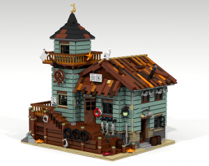 Old Fishing Store Modular Building Potential LEGO Ideas Set Creation by robenanne