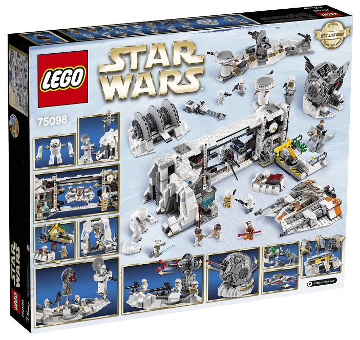 75098 LEGO Star Wars Assault on Hoth High Resolution Back Box - Toysnbricks