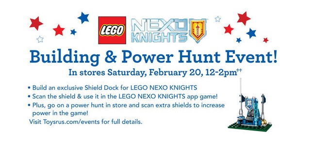 LEGO Nexo Knights Shield Dock 2016 Building Event ToysRUs USA - Toysnbricks