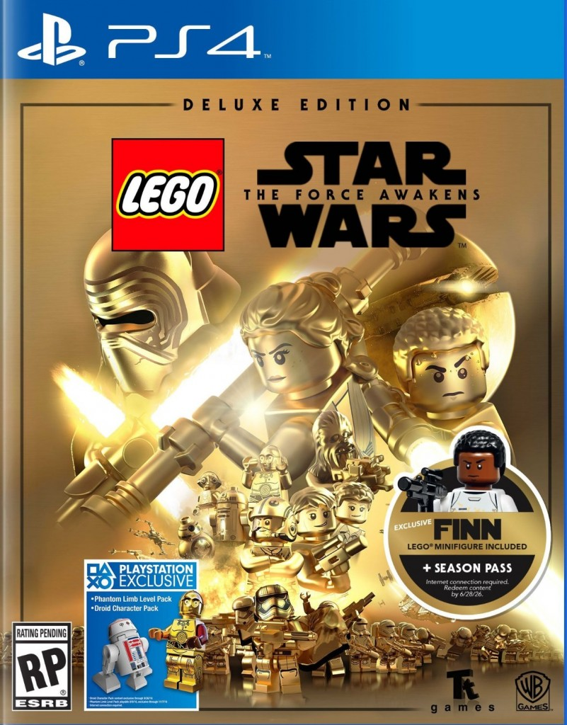LEGO Star Wars The Force Awakens Video Game Deluxe Version with Finn Minifigure - Toysnbricks