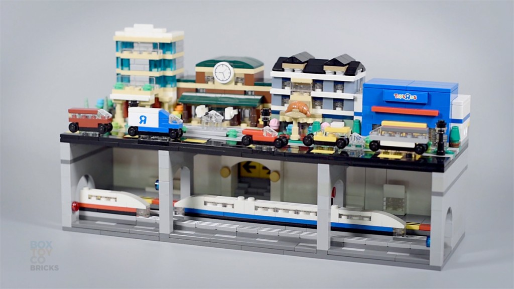 [MOC] Micro City with Subway Train Station