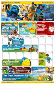 March 2016 LEGO Brand Retail Store Calendar - Toysnbricks