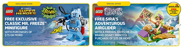 April 2016 LEGO Offers Mr.Freeze Minifigure and Siras Adventurous Airglider