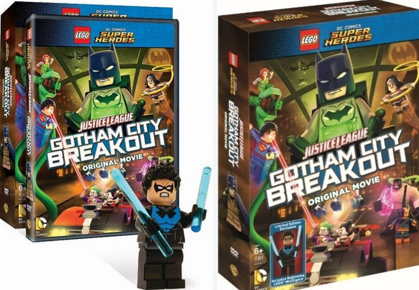 LEGO DC Comics Super Heroes Gotham City Breakout with Blue Nightwing minifigure