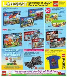 ToysRUs LEGO Sale Canada March 2016
